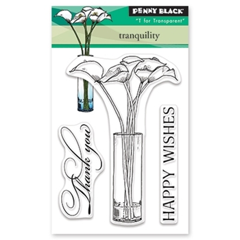 Penny Black Clear Stamps TRANQUILITY 30-484
