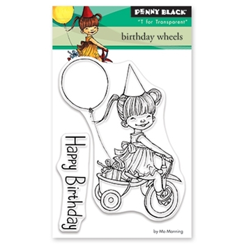 Penny Black Clear Stamps BIRTHDAY WHEELS 30-483