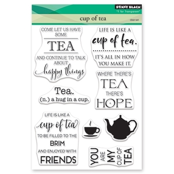 Penny Black Clear Stamps CUP OF TEA 30-482