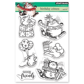 Penny Black Clear Stamps BIRTHDAY CRITTERS 30-466