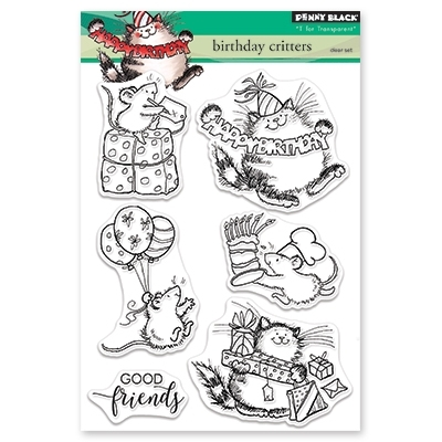 Penny Black Clear Stamps BIRTHDAY CRITTERS 30-466 zoom image