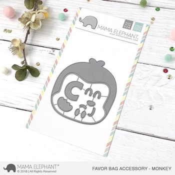 Mama Elephant FAVOR BAG ACCESSORY MONKEY Creative Cuts Steel Die Set