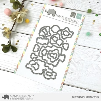Mama Elephant BIRTHDAY MONKEYS Creative Cuts Steel Dies