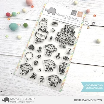 Mama Elephant Clear Stamp BIRTHDAY MONKEYS