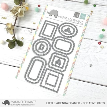 Mama Elephant LITTLE AGENDA FRAMES Creative Cuts Steel Dies