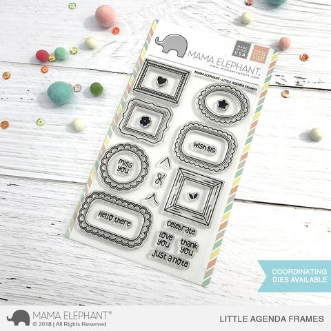 Mama Elephant Clear Stamp LITTLE AGENDA FRAMES Preview Image