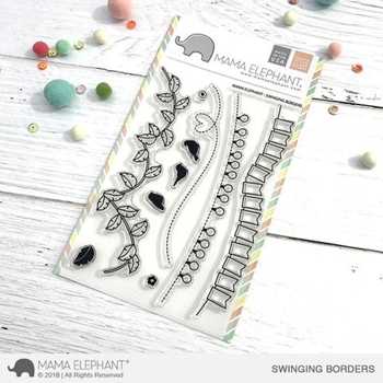 Mama Elephant Clear Stamp SWINGING BORDERS