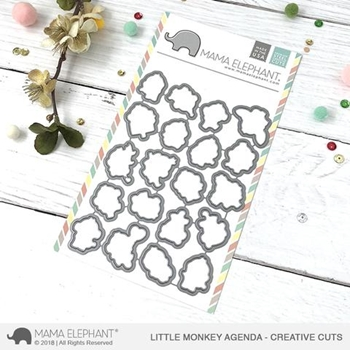 Mama Elephant LITTLE MONKEY AGENDA Creative Cuts Steel Dies