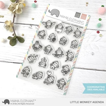 Mama Elephant Clear Stamp LITTLE MONKEY AGENDA