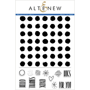 Altenew WATERCOLOR DOTS Clear Stamp Set ALT2240