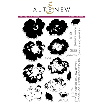 Altenew STRENGTH BLOOMS Clear Stamp Set ALT2237