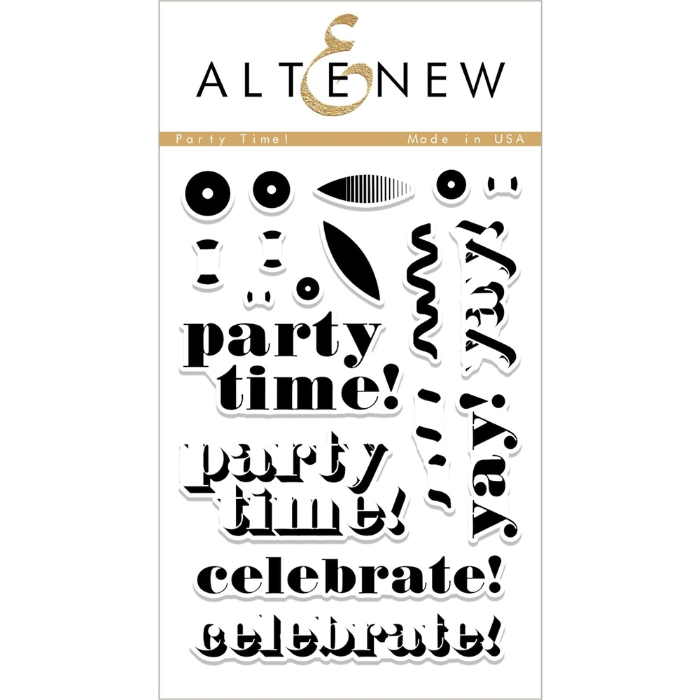 Altenew PARTY TIME Clear Stamp Set ALT2234 zoom image