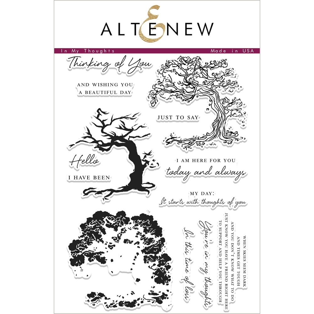 Altenew IN MY THOUGHTS Clear Stamp Set ALT2223 zoom image