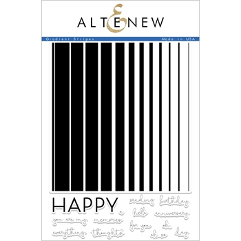 Altenew GRADIENT STRIPES Clear Stamp Set ALT2217