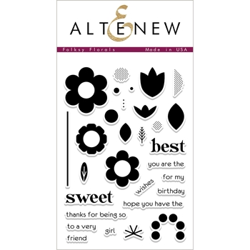 Altenew FOLKSY FLORALS Clear Stamp Set ALT2214