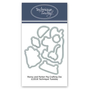 Technique Tuesday PARKER AND PENNY PIG Crafting DIY Dies 02651
