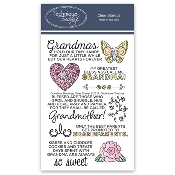 Technique Tuesday GRANDMA BLESSINGS Clear Stamps 02585