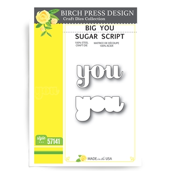 Birch Press Design BIG YOU SUGAR SCRIPT Craft Dies 57141