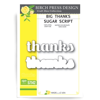 Birch Press Design BIG THANKS SUGAR SCRIPT Craft Dies 57142