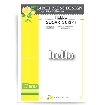 Birch Press Design HELLO SUGAR SCRIPT Craft Dies 57143