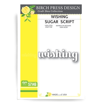 Birch Press Design WISHING SUGAR SCRIPT Craft Dies 57146
