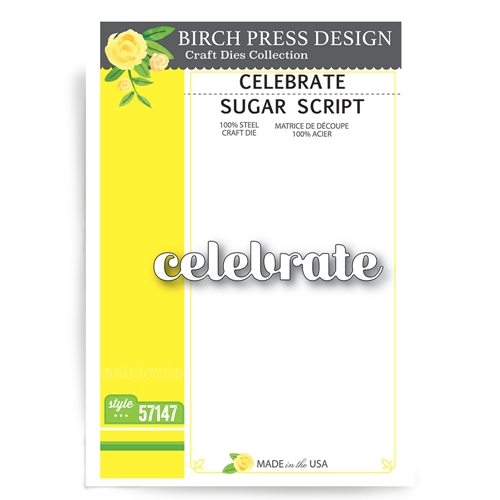 Birch Press Design CELEBRATE SUGAR SCRIPT Craft Dies 57147 Preview Image