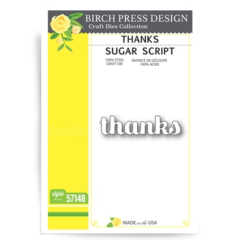 Birch Press Design THANKS SUGAR SCRIPT Craft Dies 57148