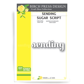 Birch Press Design SENDING SUGAR SCRIPT Craft Dies 57152