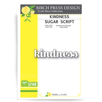 Birch Press Design KINDNESS SUGAR SCRIPT Craft Dies 57149