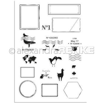 Alexandra Renke INTERNATIONAL Clear Stamp Set start001