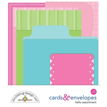 Doodlebug HELLO ASSORTMENT Cards and Envelopes 5879