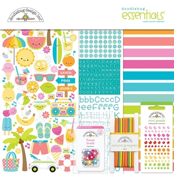 Doodlebug SWEET SUMMER Collection Essentials Kit 6001