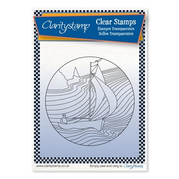 Claritystamp SAILOR Round Fine Line Clear Stamps stase10591a6