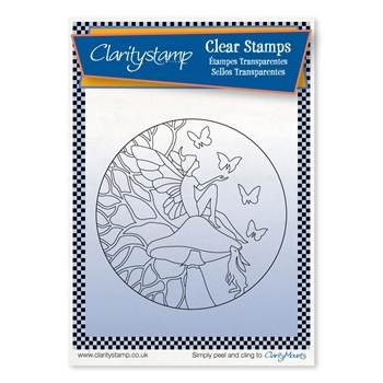 Claritystamp FAIRY DAY DREAM Round Fine Line Clear Stamps stafy10590a6