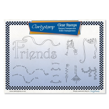 Claritystamp FRIENDS DANGLES Clear Stamps stawo10603a5