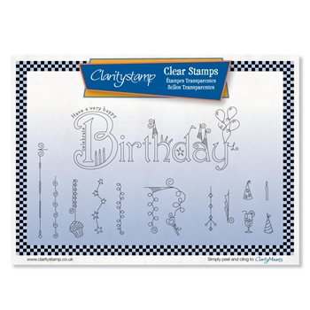 Claritystamp BIRTHDAY DANGLES Clear Stamps stawo10602a5
