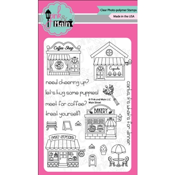 Pink and Main MAIN STREET Clear Stamp Set PM0268
