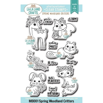 La-La Land Crafts Clear Stamp WOODLAND CRITTERS Set MB001