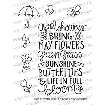 Newton's Nook Designs APRIL SHOWERS Clear Stamp Set NN1804S05