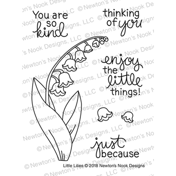 Newton's Nook Designs LITTLE LILIES Clear Stamp Set NN1804S04