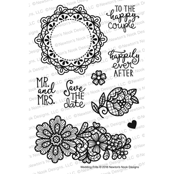 Newton's Nook Designs WEDDING FRILLS Clear Stamp Set NN1804S02