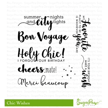 SugarPea Designs CHIC WISHES Clear Stamp Set spd-00282