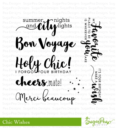 SugarPea Designs CHIC WISHES Clear Stamp Set spd-00282 zoom image