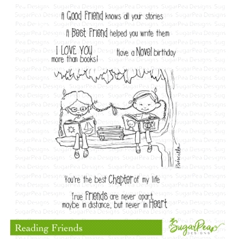SugarPea Designs READING FRIENDS Clear Stamp Set spd-00283