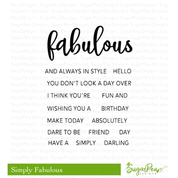 SugarPea Designs SIMPLY FABULOUS Clear Stamp Set spd-00284