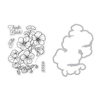 Hero Arts FLORALS NASTURTIUM Clear Stamp and Die Combo SB195