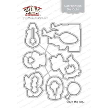 The Greeting Farm SAVE THE DAY Coordinating Die Cuts TGF394
