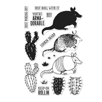 Hero Arts Clear Stamps Color Layering ARMADILLO CM257