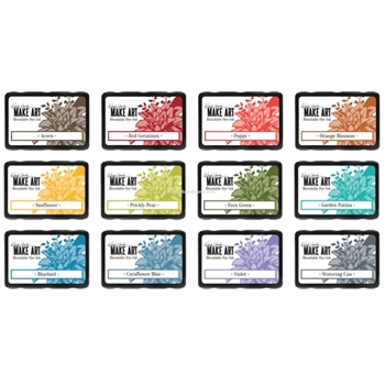 Ranger Wendy Vecchi MAKE ART DYE INK PAD 12 SET ranger112