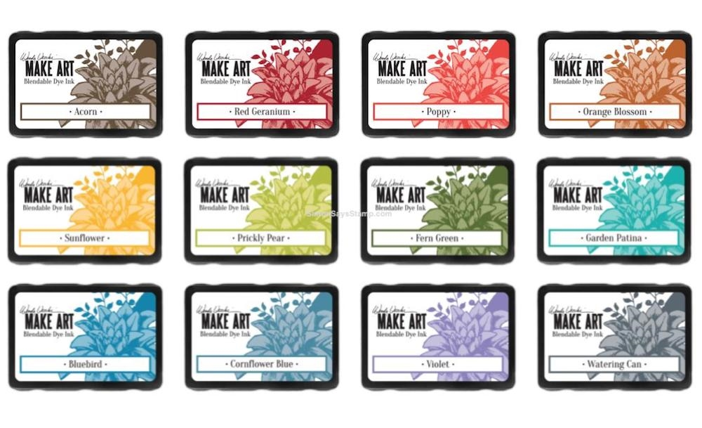 Ranger Wendy Vecchi MAKE ART DYE INK PAD 12 SET ranger112 zoom image